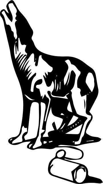 silueta perro aullando